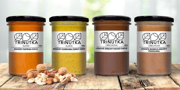 Krémy Trinutka: oříšky, kakao, mandle i papričky
