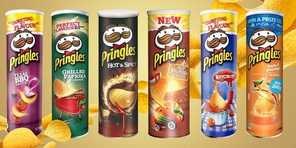 Balení chipsů Pringles: 12 příchutí