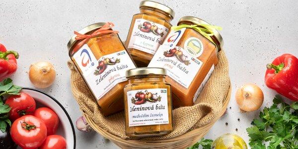 Balíčky zeleninových bašt a čatní vyrobené v ČR