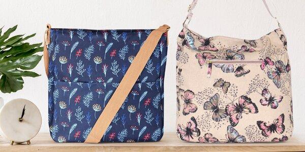 Dámské tašky s barevnými květinovými motivy