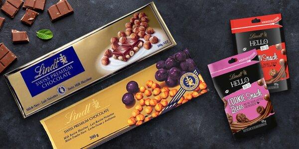 Švýcarské čokolády Lindt: tabulky, pralinky i bites
