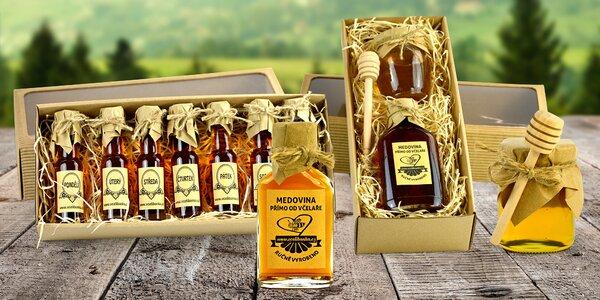 Ručně vyráběná a balená medovina i med z Česka