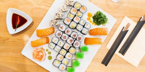 Set 34 nebo 60 ks sushi přímo na Stodolní
