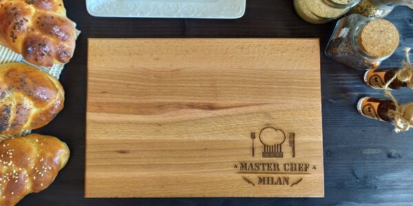 Prkénko pro Master Chefa s vlastním textem