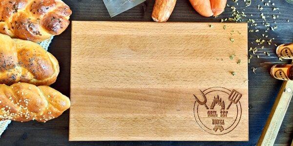 Šéf grilu: dřevěné prkénko s vlastním textem