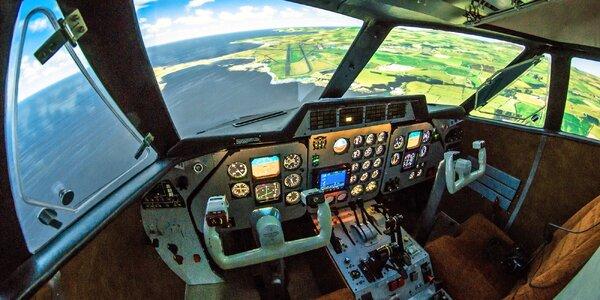 Až 60 min. na simulátoru letadla C172 nebo L410