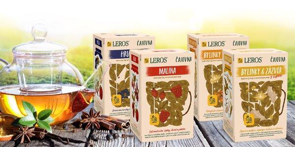 Balíčky čajů Leros: malina, bylinky i hruška