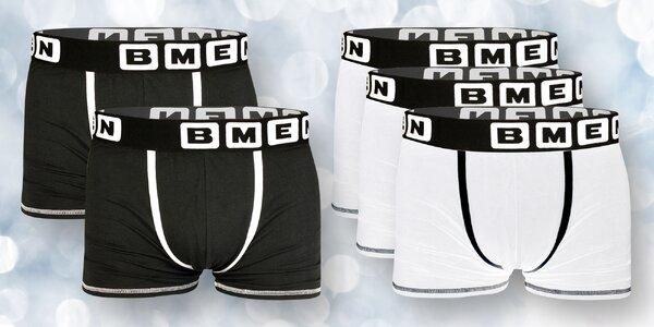 Bavlněné boxerky po 5 ks: černé a bílé, M–XXL