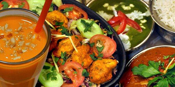 Bohaté indické menu pro dva v Dilli Delhi
