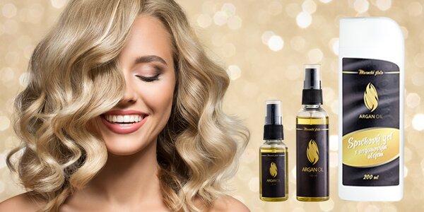 100% arganový olej pro krásné vlasy i sprchový gel