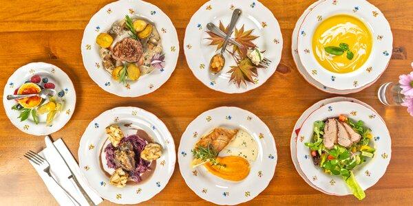 5chodové degustační menu i privátní spa pro 2 osoby