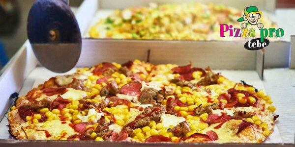 Dvě pizzy podle výběru z 15 druhů s rozvozem