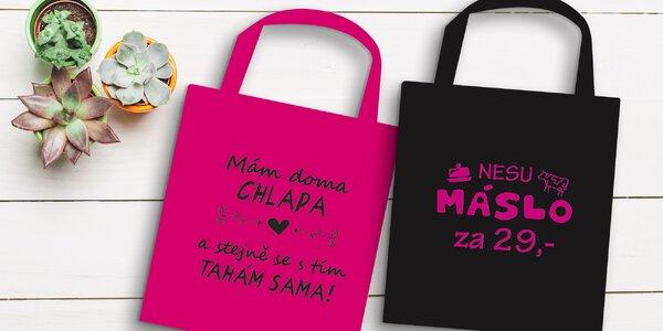 Vtipná taška na nákupy: 9 designů ve 2 barvách