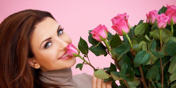 Až 101 ks bílých růží Athena s rozvozem po Praze
