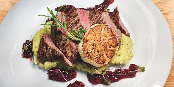 Degustační menu dle výběru: panenka i flank steak