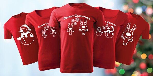 Vánoční trika pro celou rodinu: se soby či sněhuláky