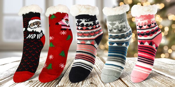 Dětské teplé ponožky: jednobarevné i se vzory