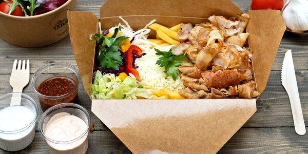 Street box i kebab talíř kousek od metra Palmovka