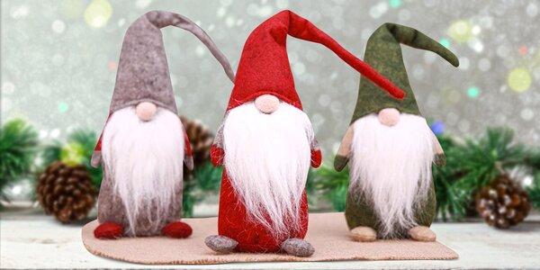 Roztomilá vánoční dekorace: Skřítci z plsti