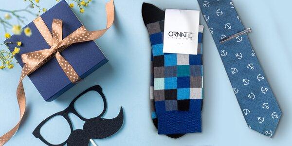 Sada pro gentlemany: kravata, spona i kapesníček