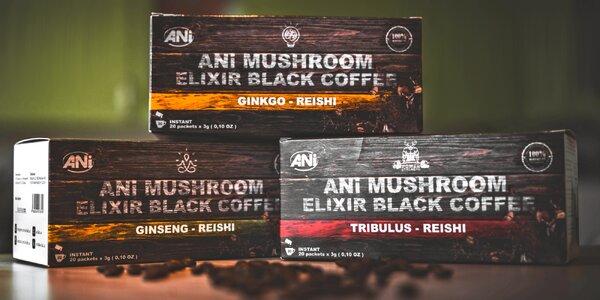 Indonéská instantní káva s reishi, více druhů