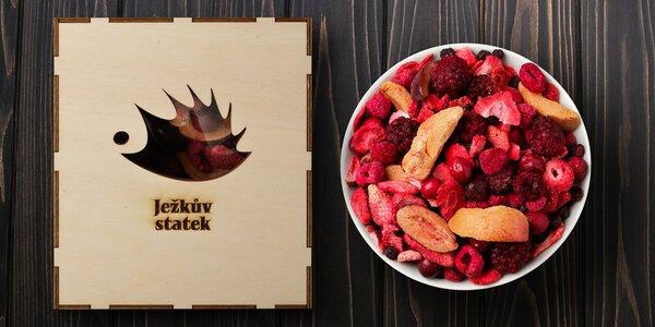 Mix mrazem sušeného ovoce v dárkové krabičce