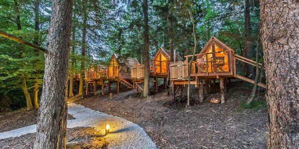 Dřevěné domky u Bledu, snídaně a venkovní horká káď