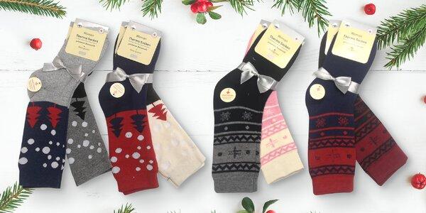 2 nebo 4 páry pohodlných dámských termo ponožek