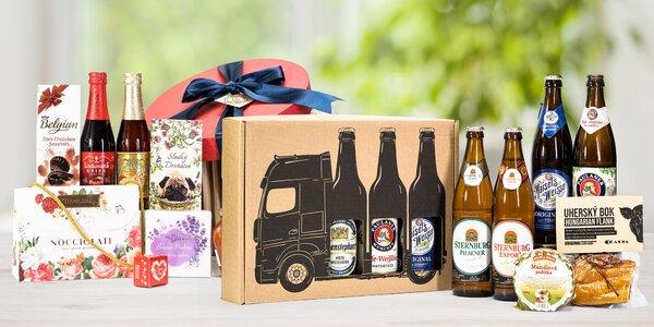 Dárkové sady světových pivních specialit a delikates