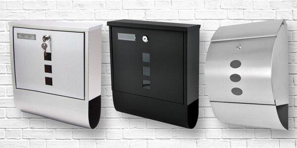 Poštovní schránky: 5 druhů v černé nebo stříbrné barvě