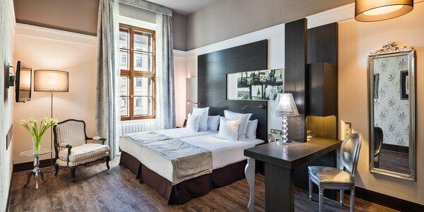 Pobyt v luxusním hotelu v Brně s jídlem a saunou
