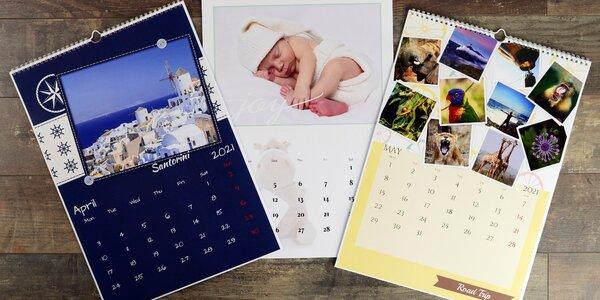 Nástěnné nebo stolní fotokalendáře: A5, A4, A3 i XL