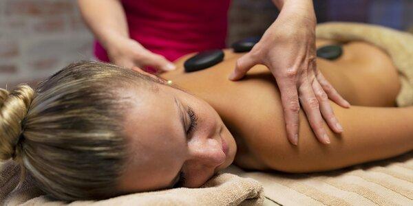 60minutová masáž lávovými kameny a horkým olejem