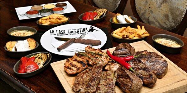 Degustační steaková žranice pro 2 nebo 6 jedlíků