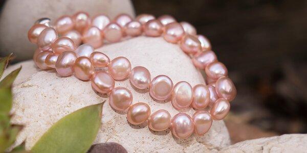 Krásné náhrdelníky a náramky z přírodních perel