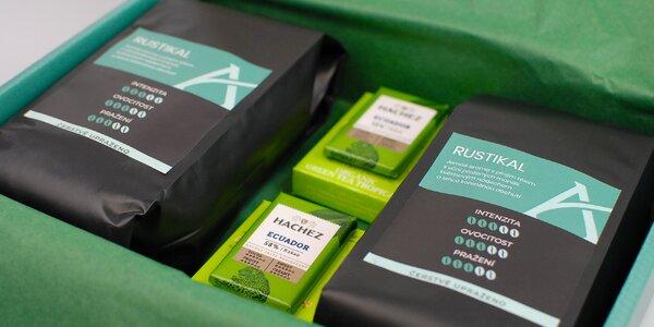 Dárkové balení kávy Alesio s čajem a čokoládou