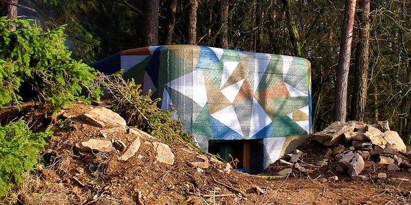 Nocování u lesa ve vojenském bunkru vzor 36