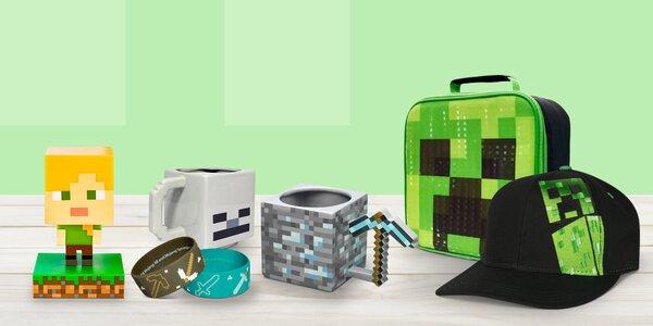 Minecraft přívěsky, plakáty, batohy i hrnky