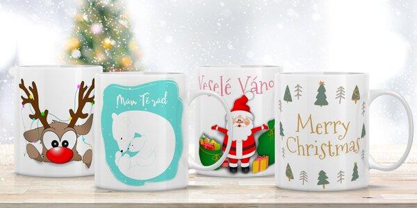 Roztomilé vánoční hrnečky s obrázky a nápisy