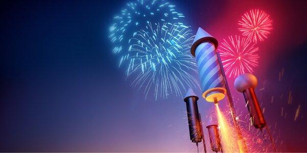 Mega ohňostroje s 200 až 400 efekty na jedno zapálení