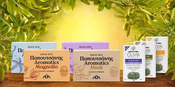 Řecká péče: tuhá mýdla s olivovým olejem