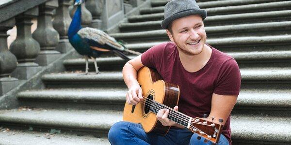 60min. online kurz hry na kytaru či ukulele s Voxelem