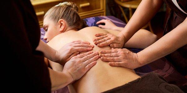 Královská čtyřruční masáž v délce 60 minut