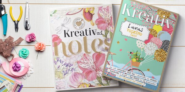 Balíček časopisů Kreativ: speciály, cvičebnice, notes