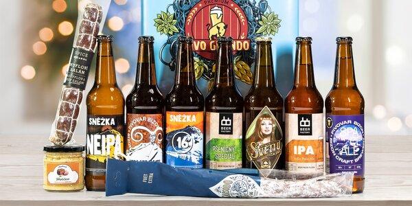 Dárkové sety řemeslných piv: Chříč, Bizon, U Vacků