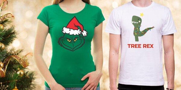 Vánoční trička: sob, šála, skřítek, Santa i další