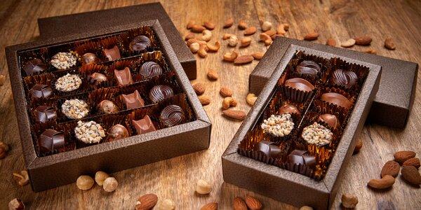 Oříškovo-nugátové pralinky z Málkovy čokoládovny