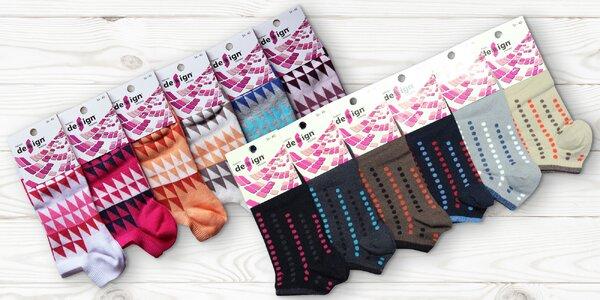 6 párů ponožek z bavlny i bambusu