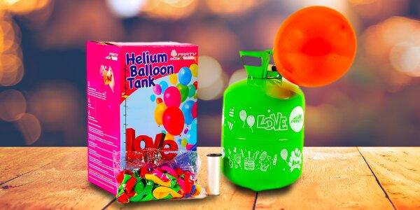 Helium v lahvi s 10 nebo až s 50 balónky k nafouknutí