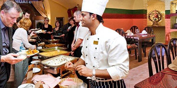 Neomezená konzumace v indické restauraci pro dva